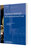 A 3D model of an issue of the European Journal of International Law