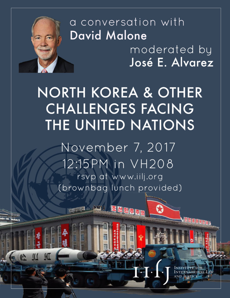North Korea and Other Challenges Facing the UN - Institute ...