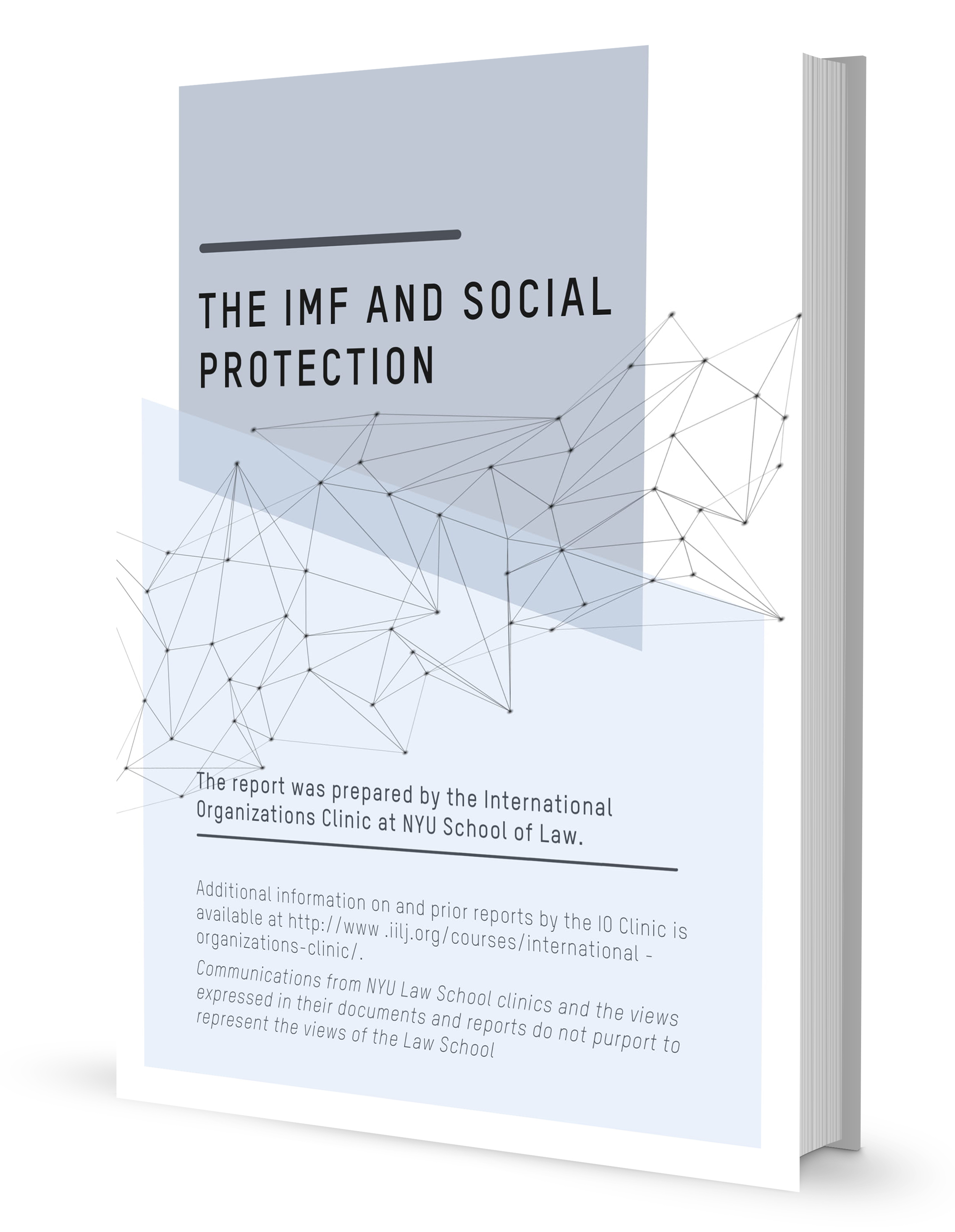 "A 3D book model with ""The IMF and Social Protection"" on the cover."